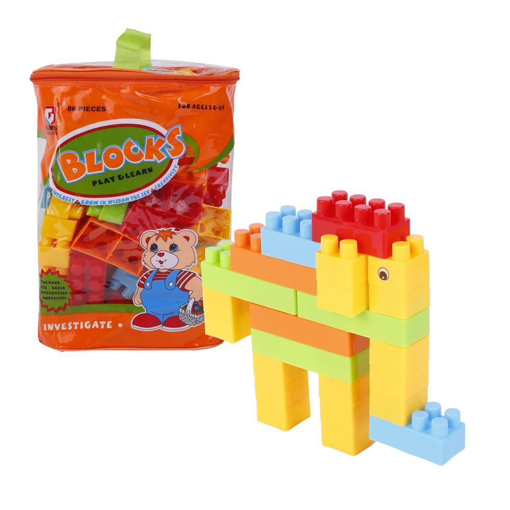 blocks-track-toys Goldkids HJ-3803D 86PCS Multi-style DIY Assembly Play & Learning Blocks Toys for Kids Gift HOB1678189