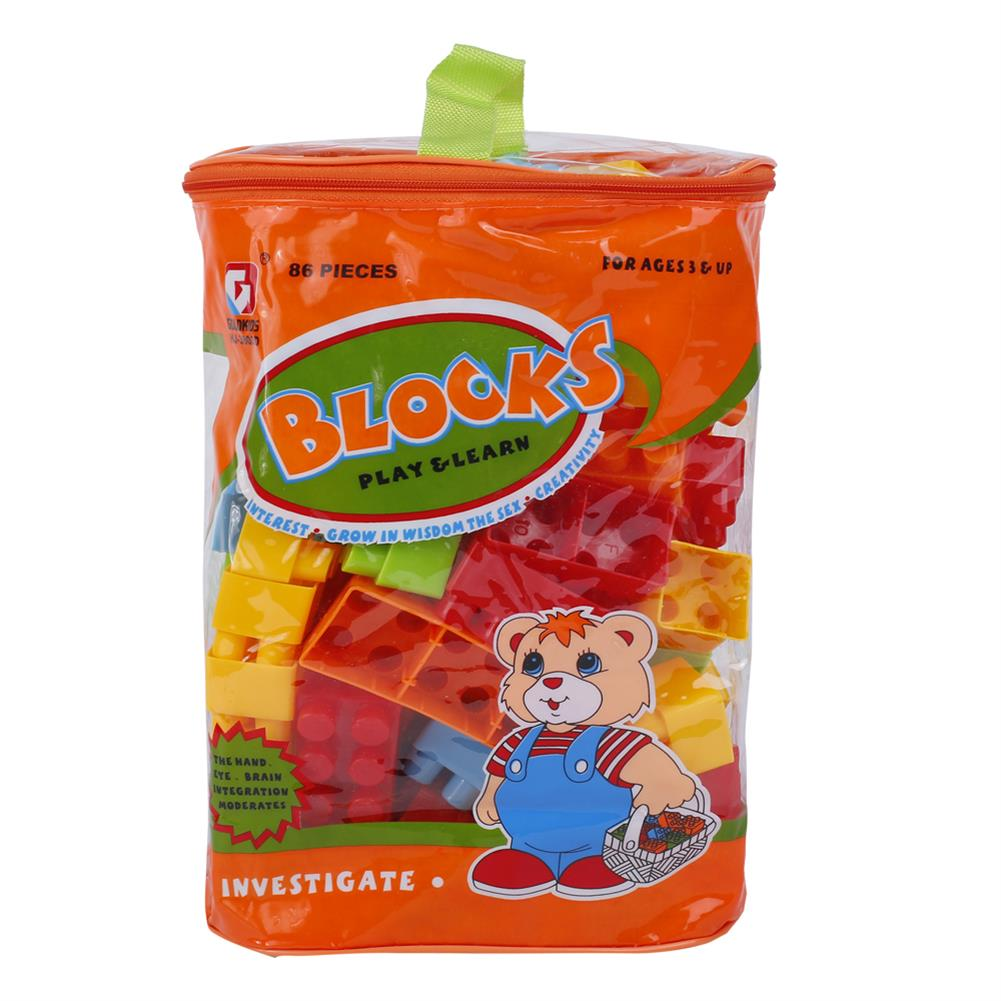 blocks-track-toys Goldkids HJ-3803D 86PCS Multi-style DIY Assembly Play & Learning Blocks Toys for Kids Gift HOB1678189 2