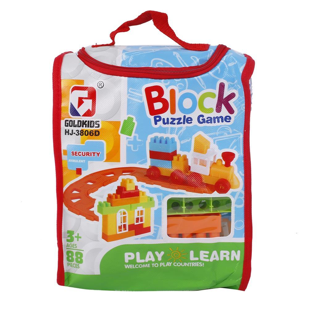 blocks-track-toys Goldkids HJ-3806D 88PCS Multi-style DIY Assembly Play & Learning Blocks Toys for Kids Gift HOB1678193 2