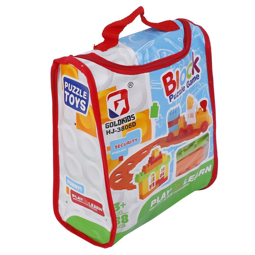 blocks-track-toys Goldkids HJ-3806D 88PCS Multi-style DIY Assembly Play & Learning Blocks Toys for Kids Gift HOB1678193 3
