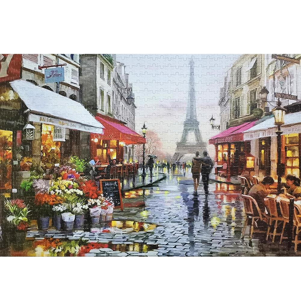 puzzle-game-toys 1000 Piece Jigsaw Puzzle Toy DIY Assembly Cardboard Landscapes Decompression Game Puzzle Toy HOB1678197