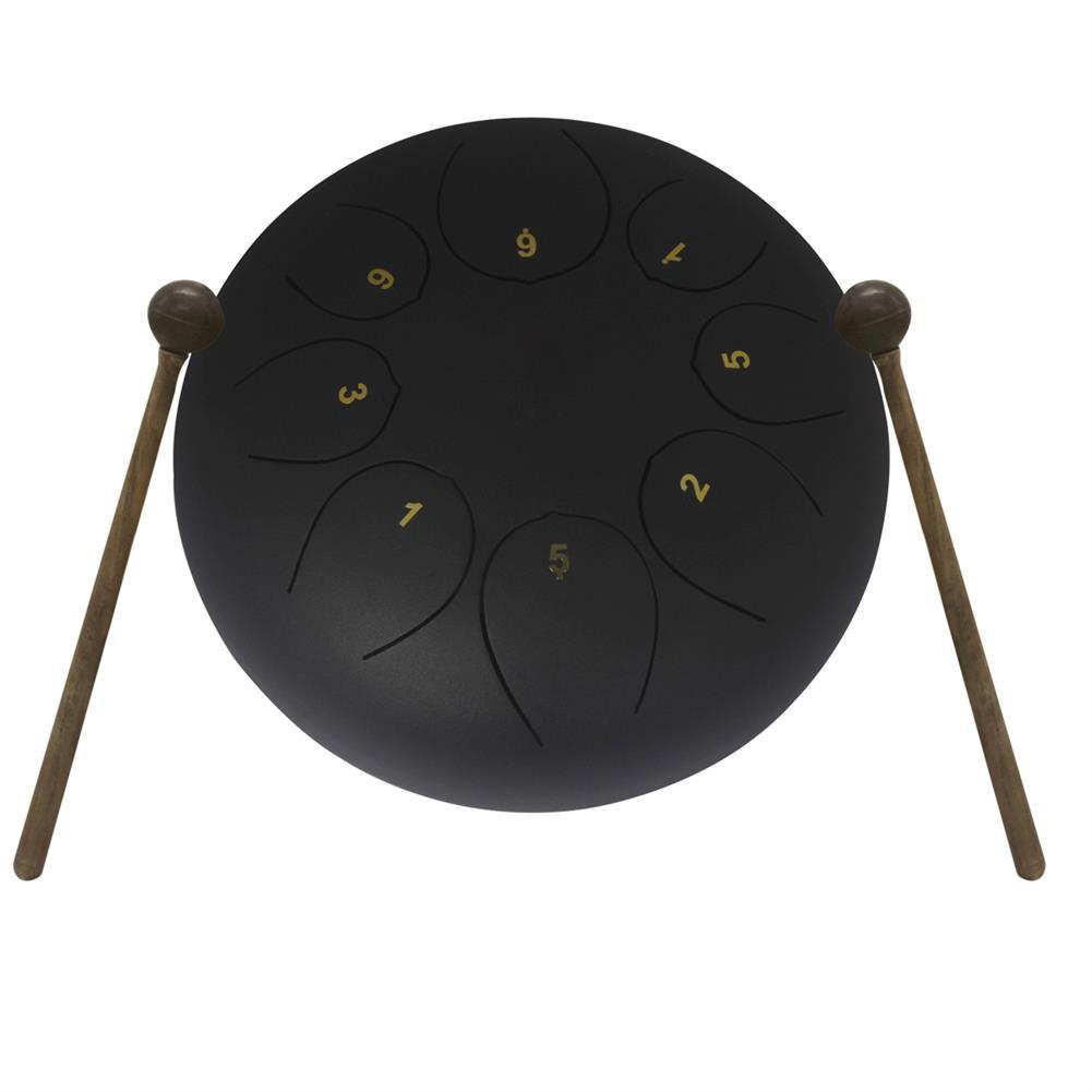 steel-drums 10'' Mini Steel Tongue Drum 8 Notes Handpan Drum Tankdrum Musical instrument HOB1679081 3