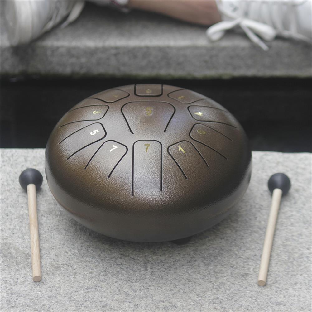 steel-drums 10'' Steel Tongue Drum 11 Notes Handpan Drum Tankdrum instrument + Bag & Mallets HOB1679097