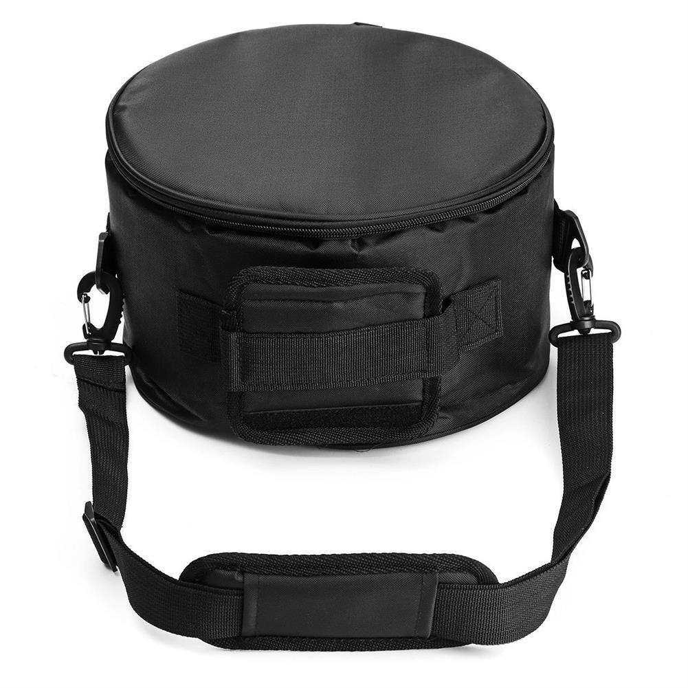 steel-drums HLURU 10'' Steel Tongue Drum Handpan D Major 11 Notes Hand Tankdrum with Bag Mallets HOB1679112 3