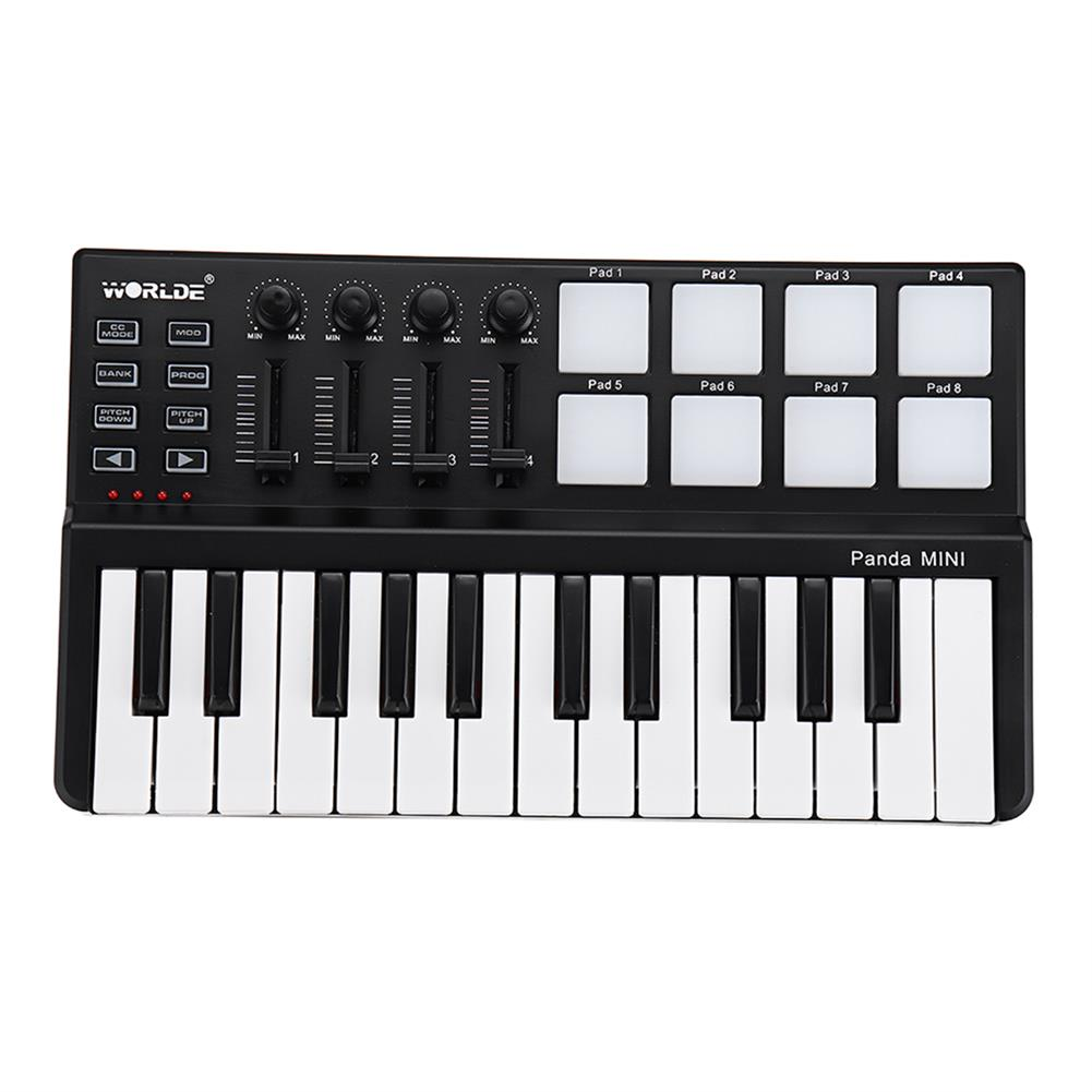 midi-controllers WORLDE Panda USB 25-Key MIDI Keyboard Controller w/Drum Pad Portable Trigger HOB1679800