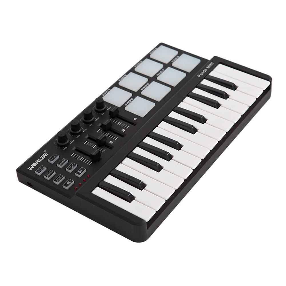 midi-controllers WORLDE Panda USB 25-Key MIDI Keyboard Controller w/Drum Pad Portable Trigger HOB1679800 1