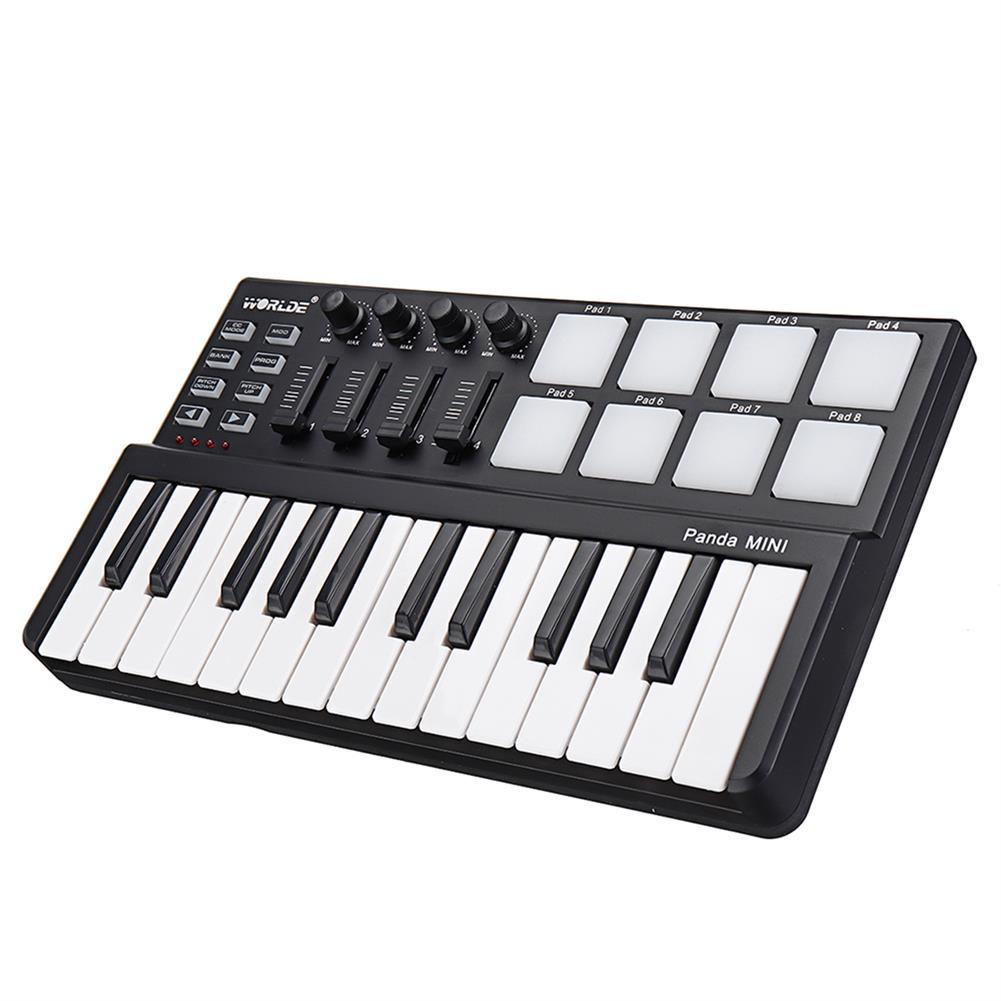midi-controllers WORLDE Panda USB 25-Key MIDI Keyboard Controller w/Drum Pad Portable Trigger HOB1679800 2