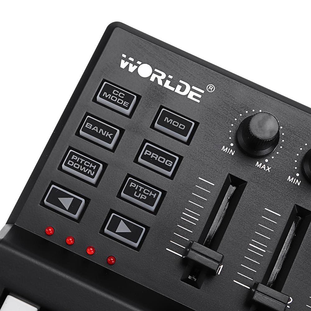 midi-controllers WORLDE Panda USB 25-Key MIDI Keyboard Controller w/Drum Pad Portable Trigger HOB1679800 3