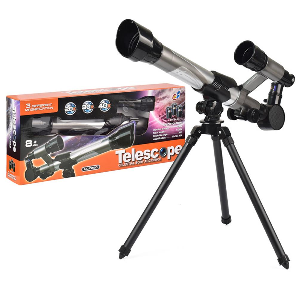 science-discovery-toys HD 20X 30X 40X Times Refractor Eyepiece Astronomical Telescope with Secondary Mirror and Tripod Science Experiment Toys for Children Gift HOB1680204