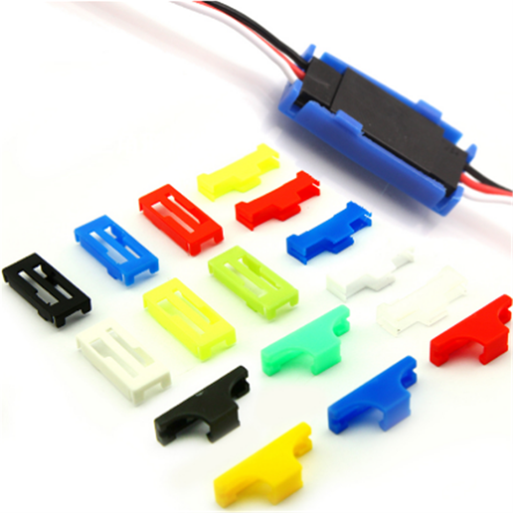 tools-bags-storage 20PCS URUAV Servo Extension Cable Buckle Clip Plastic Servos Cord Fastener Jointer Plugs Fixing Holder Colorful for DIY RC Airplane Parts HOB1680306