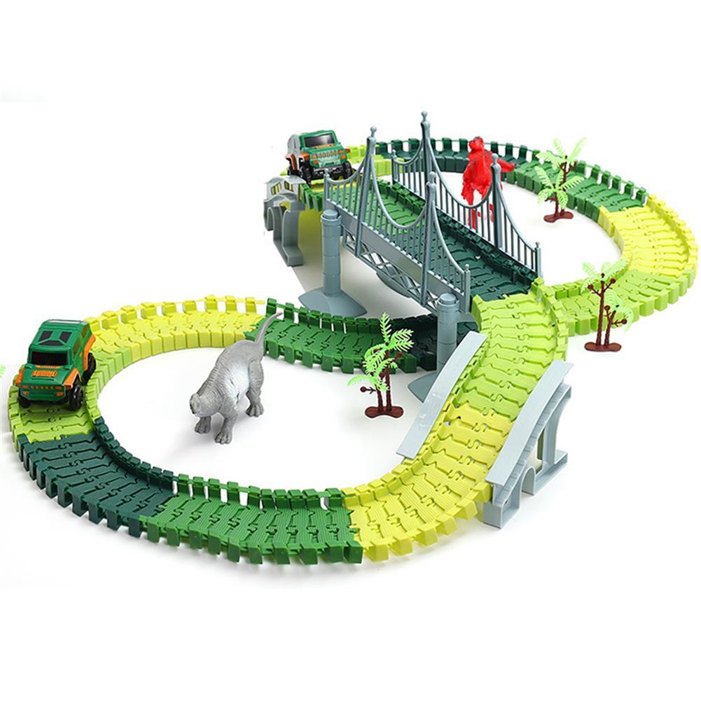 puzzle-game-toys Dinosaur Race Track Car Toy Set Puzzle Rail Model DIY Assembly HOB1680317