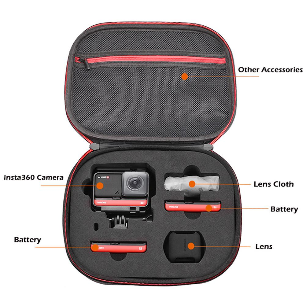 fpv-system insta360 ONE R Storage Bag Handbag Case Hard Cover Shell Carrying Box for insta360 ONE R 4K Wide Angle Camera Accessories HOB1680665 3