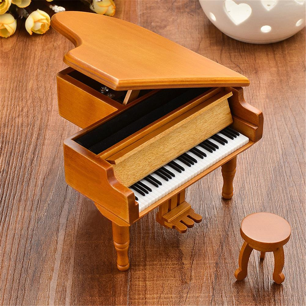 music-box Wooden Mechanical Classical Grand Piano Music Box Collectible Gift Movement Hobbies Fashion Accessories HOB1680711