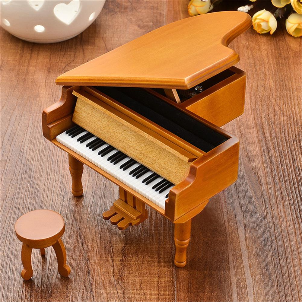 music-box Wooden Mechanical Classical Grand Piano Music Box Collectible Gift Movement Hobbies Fashion Accessories HOB1680711 1