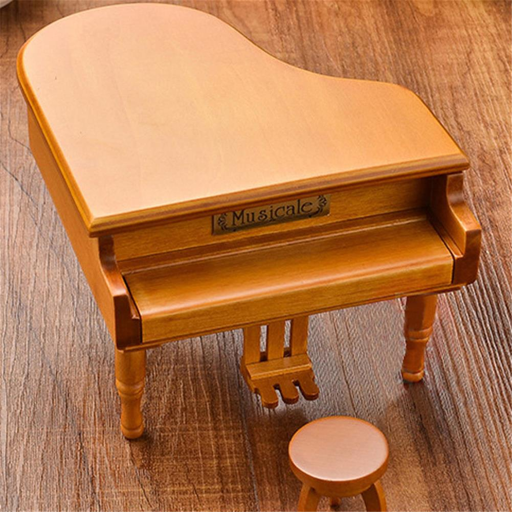 music-box Wooden Mechanical Classical Grand Piano Music Box Collectible Gift Movement Hobbies Fashion Accessories HOB1680711 2