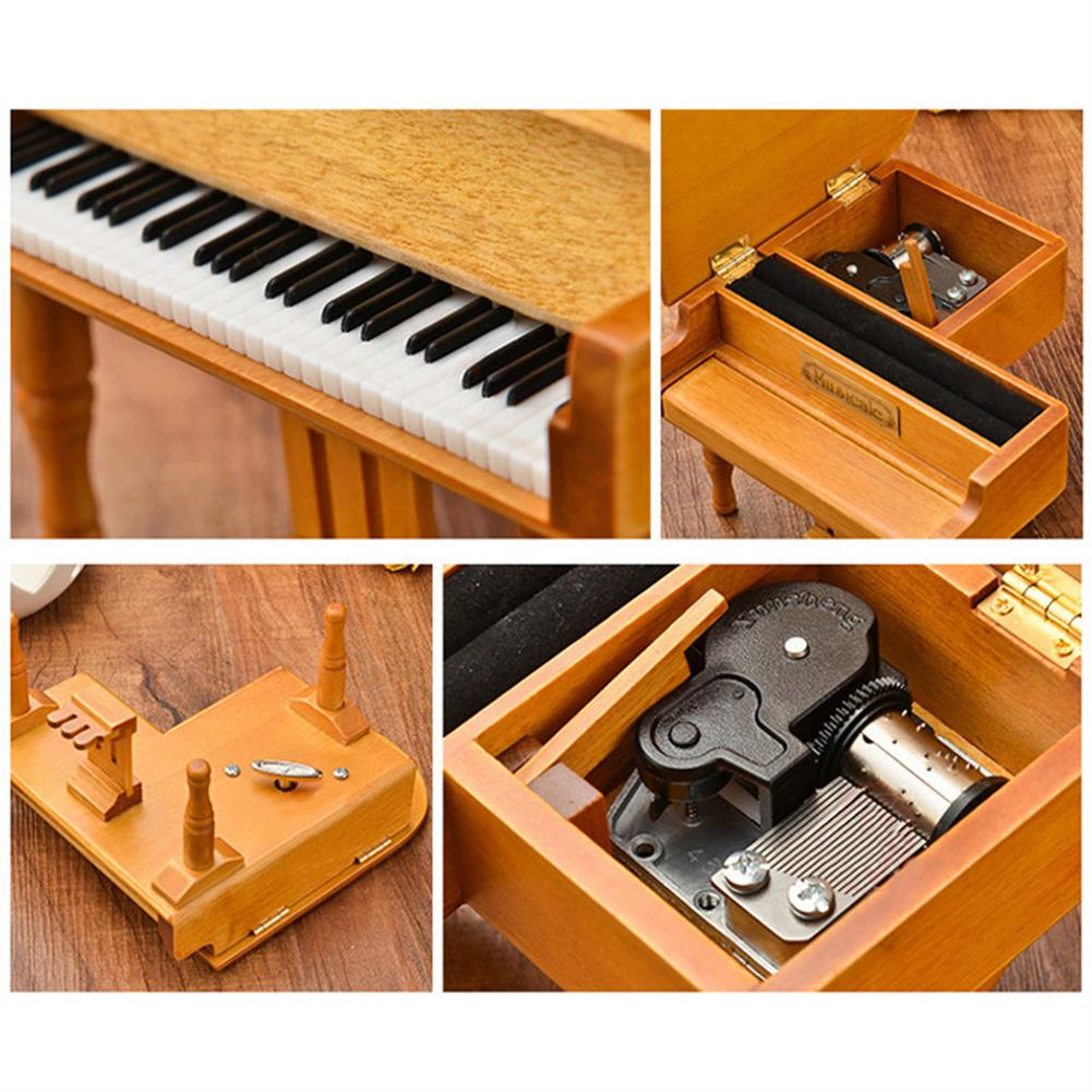 music-box Wooden Mechanical Classical Grand Piano Music Box Collectible Gift Movement Hobbies Fashion Accessories HOB1680711 3