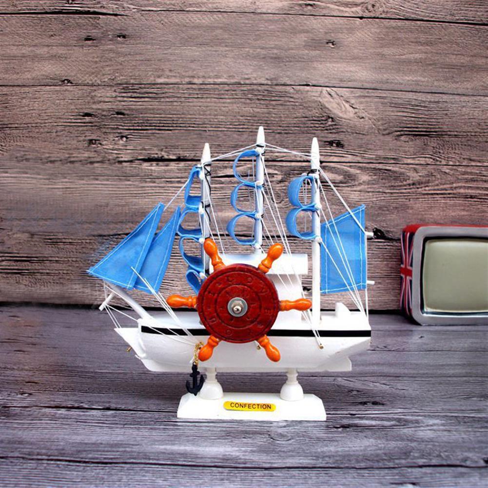 music-box Mediterranean Sailing Music Box Gifts for the New Year Creative Wooden Sailboat Craft Gift Souvenirs HOB1680746