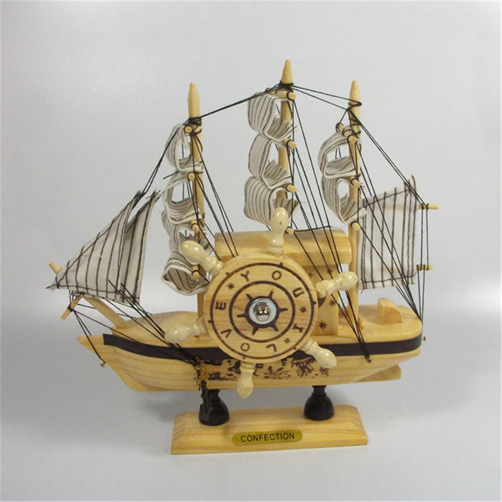 music-box Mediterranean Sailing Music Box Gifts for the New Year Creative Wooden Sailboat Craft Gift Souvenirs HOB1680746 2