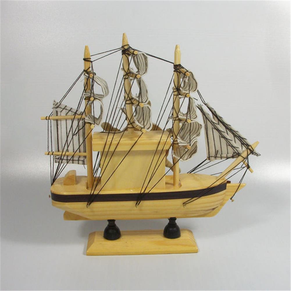 music-box Mediterranean Sailing Music Box Gifts for the New Year Creative Wooden Sailboat Craft Gift Souvenirs HOB1680746 3