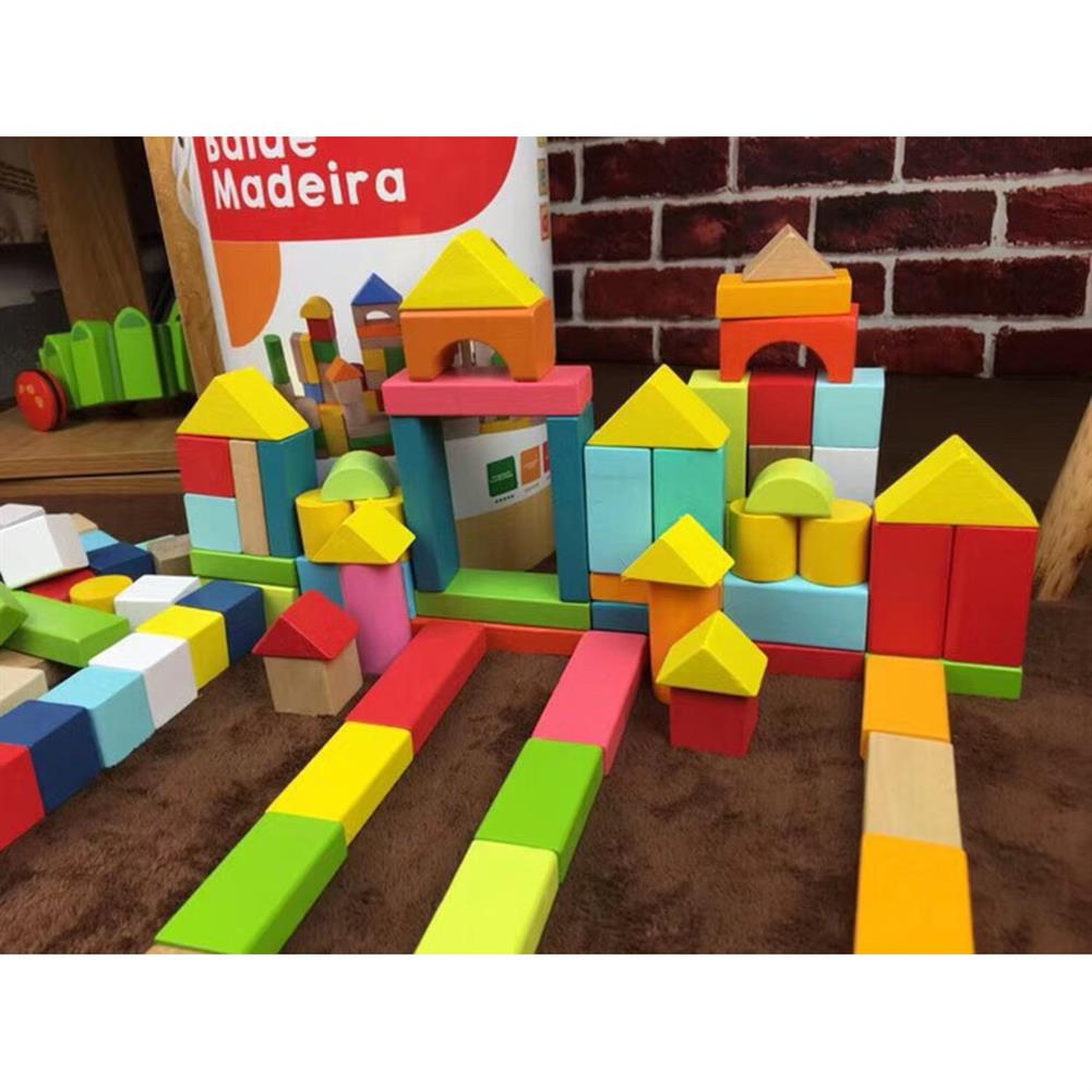 puzzle-game-toys 100 Particles Wooden Children's Building Blocks Wood Assembly Baby Educational indoor Toys HOB1681295 1