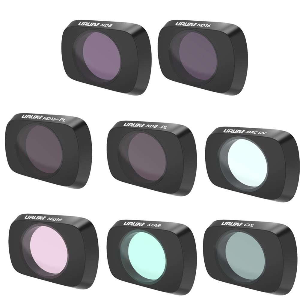 rc-quadcopter-parts URUAV Camera Lens Filter Combo Set UV/CPL/ND4/ND8/ND16/ND32/STAR/NDPL/Night for DJI Mavic Air 2 RC Drone HOB1681368