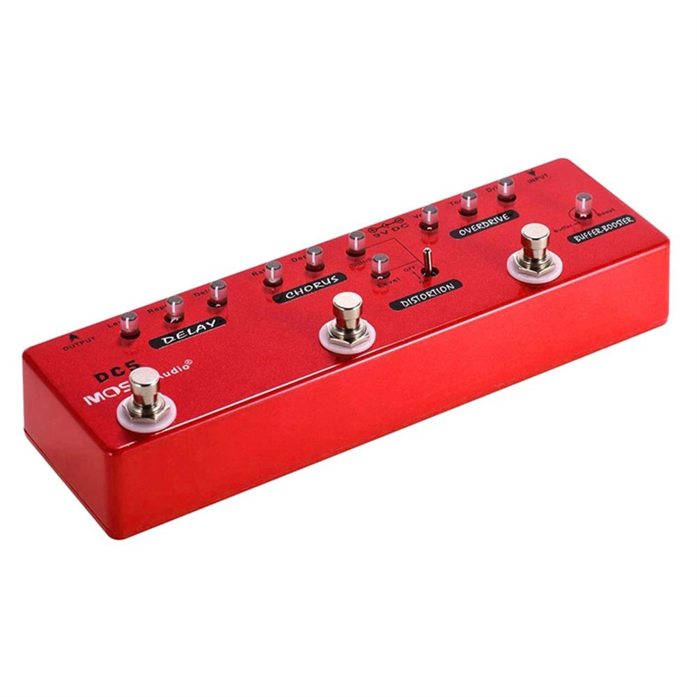 guitar-accessories MOSKY DC5 6-in-1 Guitar Effects Pedal Delay Chorus Distortion Overdrive Booster Buffer Full Metal Shell with True Bypass HOB1681529 1