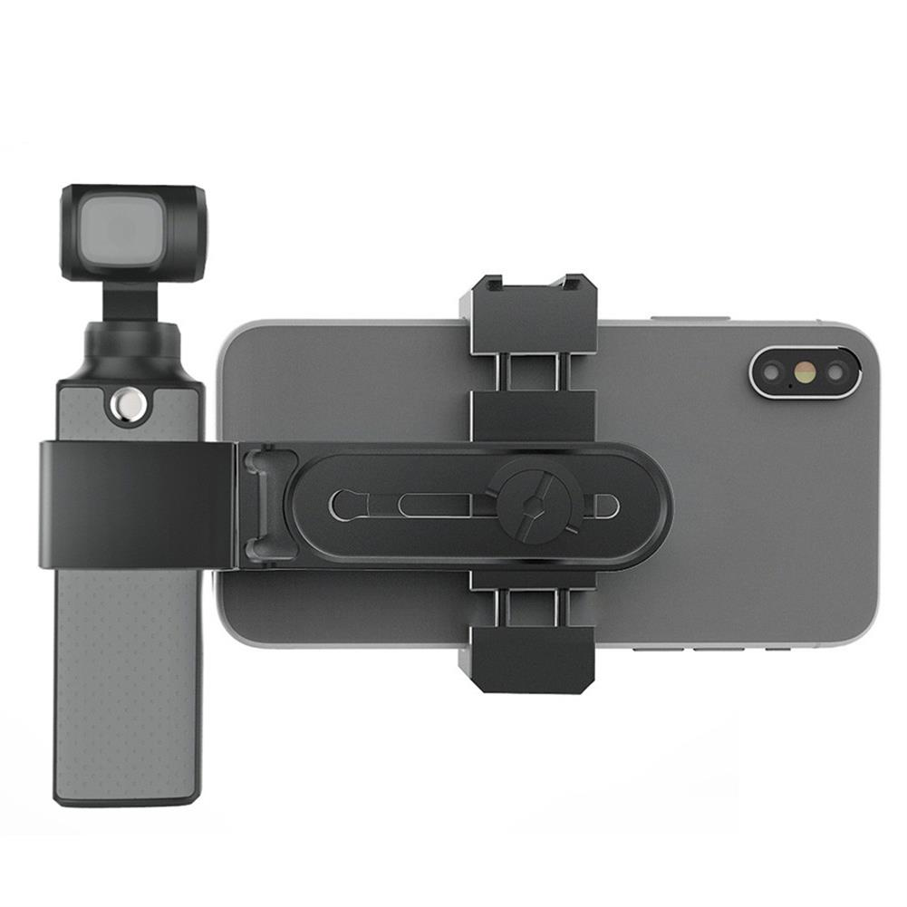 fpv-system Aluminum Alloy Magnetic Mount Bracket Smartphone 1/4 Holder with Tripod for FIMI PALM Handheld Gimbal Camera Non-original HOB1681548