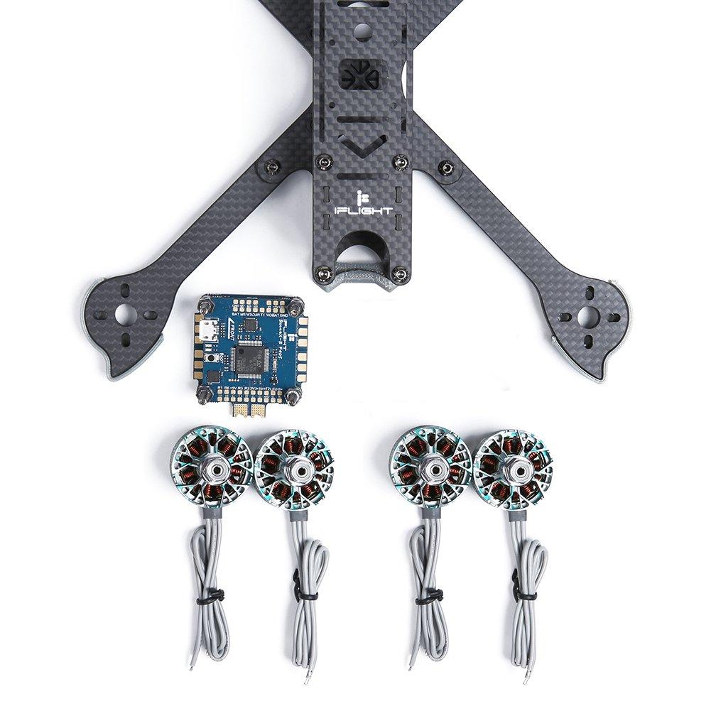 multi-rotor-parts iFlight XL5 V4 227mm Frame+iFlight SucceX-E F4 & 45A 4 in 1 Brushless ESC Stack+4PCS Racerstar SIC 2207 2688KV Motor HOB1681621 3