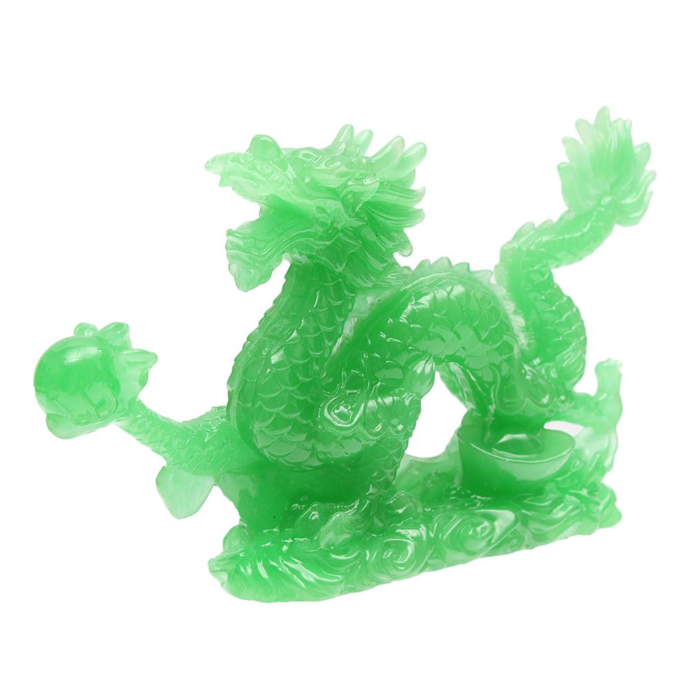 magnetic-toys 6'' Jade Color Chinese Lucky Feng Shui Dragon Figurine Success Statue Luck HOB1681757
