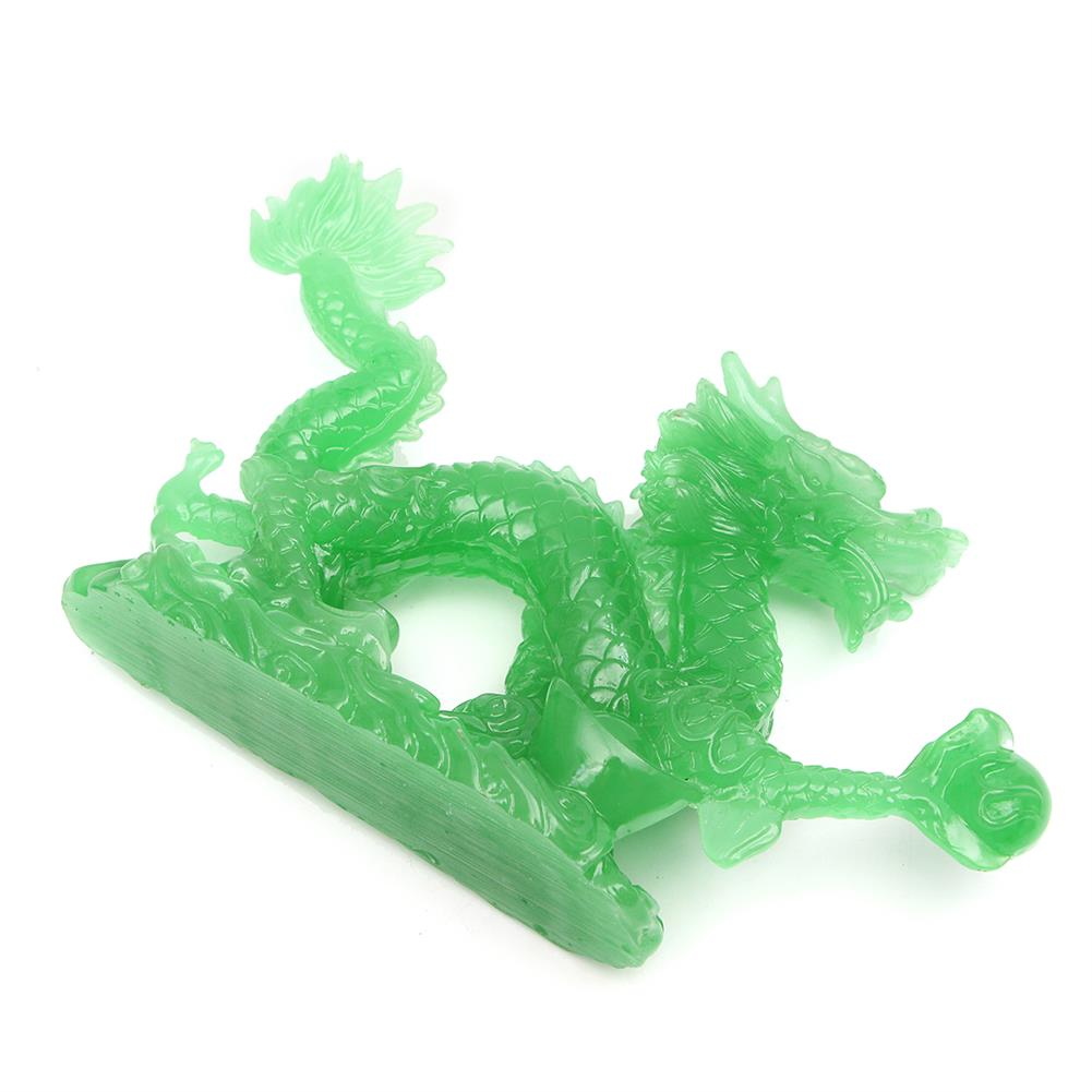 magnetic-toys 6'' Jade Color Chinese Lucky Feng Shui Dragon Figurine Success Statue Luck HOB1681757 2