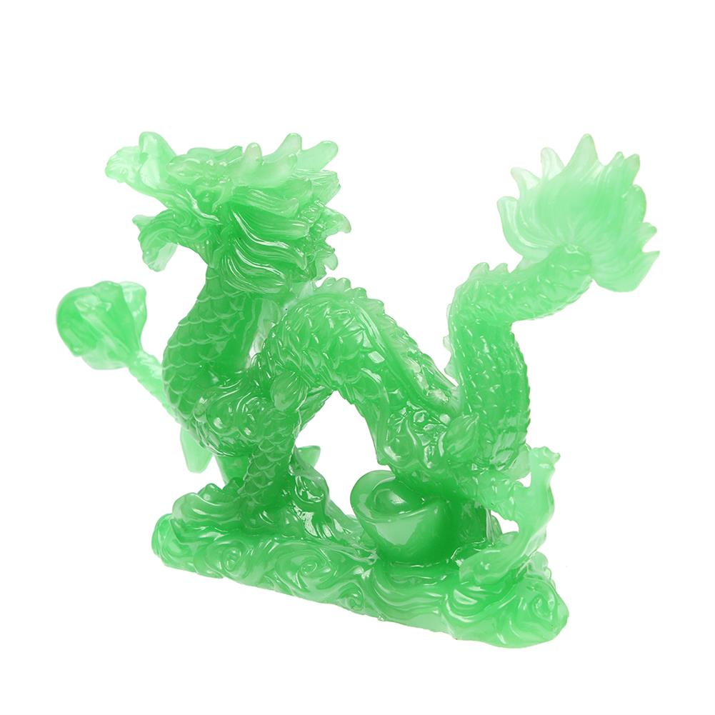 magnetic-toys 6'' Jade Color Chinese Lucky Feng Shui Dragon Figurine Success Statue Luck HOB1681757 3