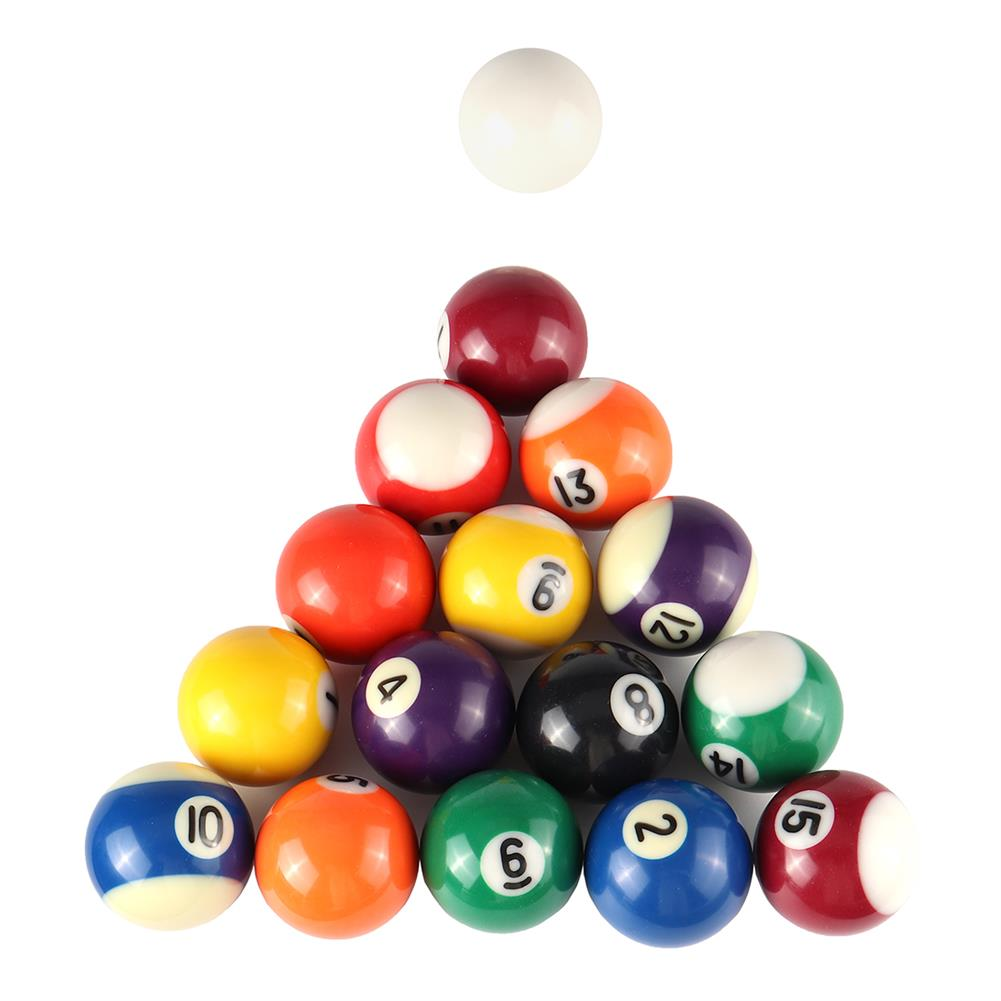 puzzle-game-toys 16pcs/set 25MM 32MM 38MM Resin Mini Billiard Pool Ball Children Table Game Toy HOB1681854