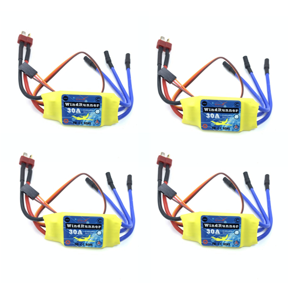 rc-airplane-parts 4PCS Brusheless ESC 30A Speed Control T-Plug for 2212 Brushless Motor KT SU27 RC Airplane FPV Racing Drone RC Car Boat HOB1682004