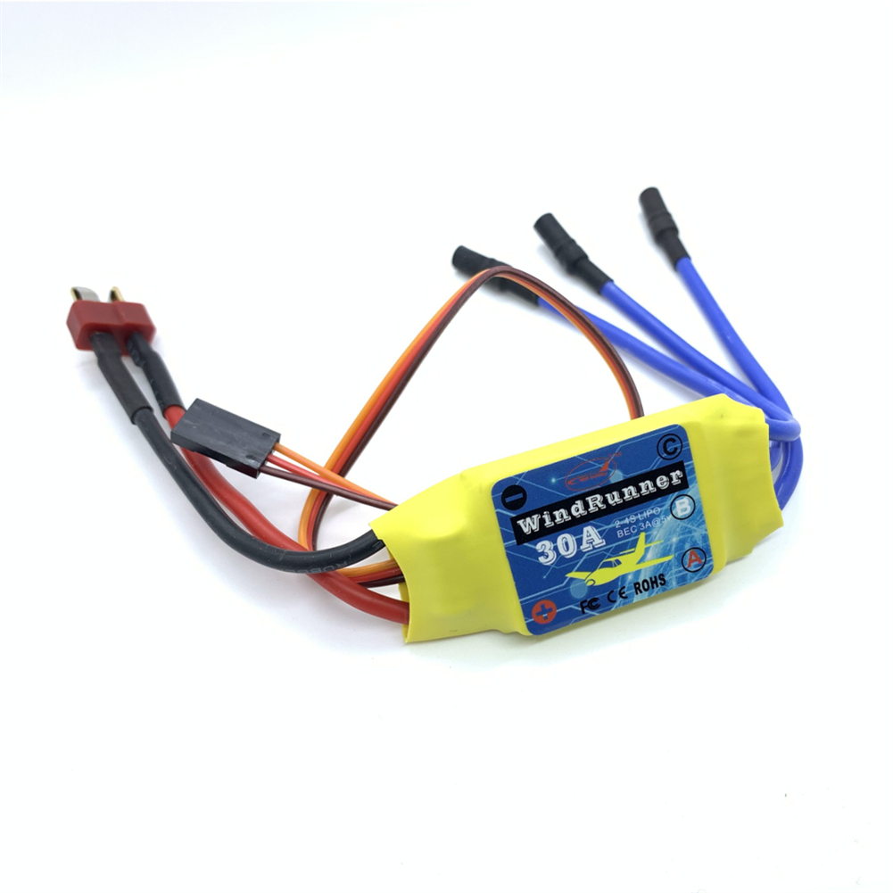 rc-airplane-parts 4PCS Brusheless ESC 30A Speed Control T-Plug for 2212 Brushless Motor KT SU27 RC Airplane FPV Racing Drone RC Car Boat HOB1682004 2