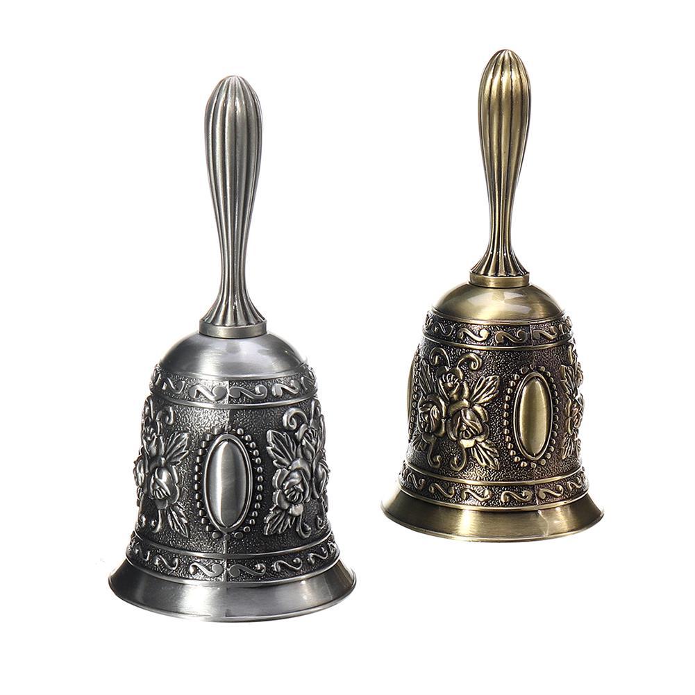 orff-instruments Retro Metal Tone Copper School Dinner Shop Hand Bell Tea Bell Hand Held 2.2x4.5 HOB1682079 2