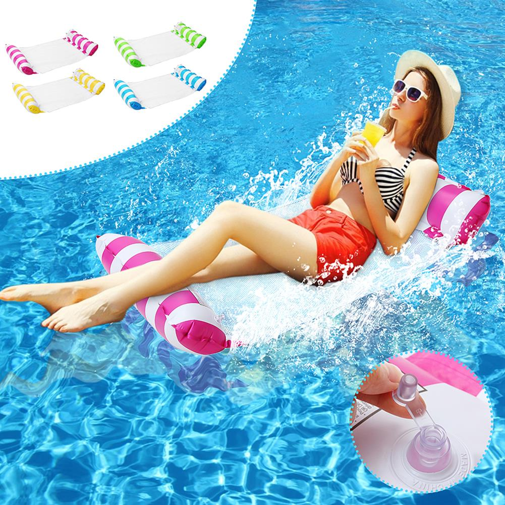 inflatable-toys 120*65CM Hammock Foldable Dual-use Backrest inflatable Toys Water Play Lounge Chair Floating Bed Leisure Toy with inflator HOB1682193