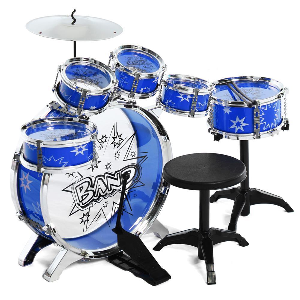 drum-sets 16x Kids Junior Drum Kit Music Set Children Mini Big Band Jazz Musical Play Toy HOB1682731