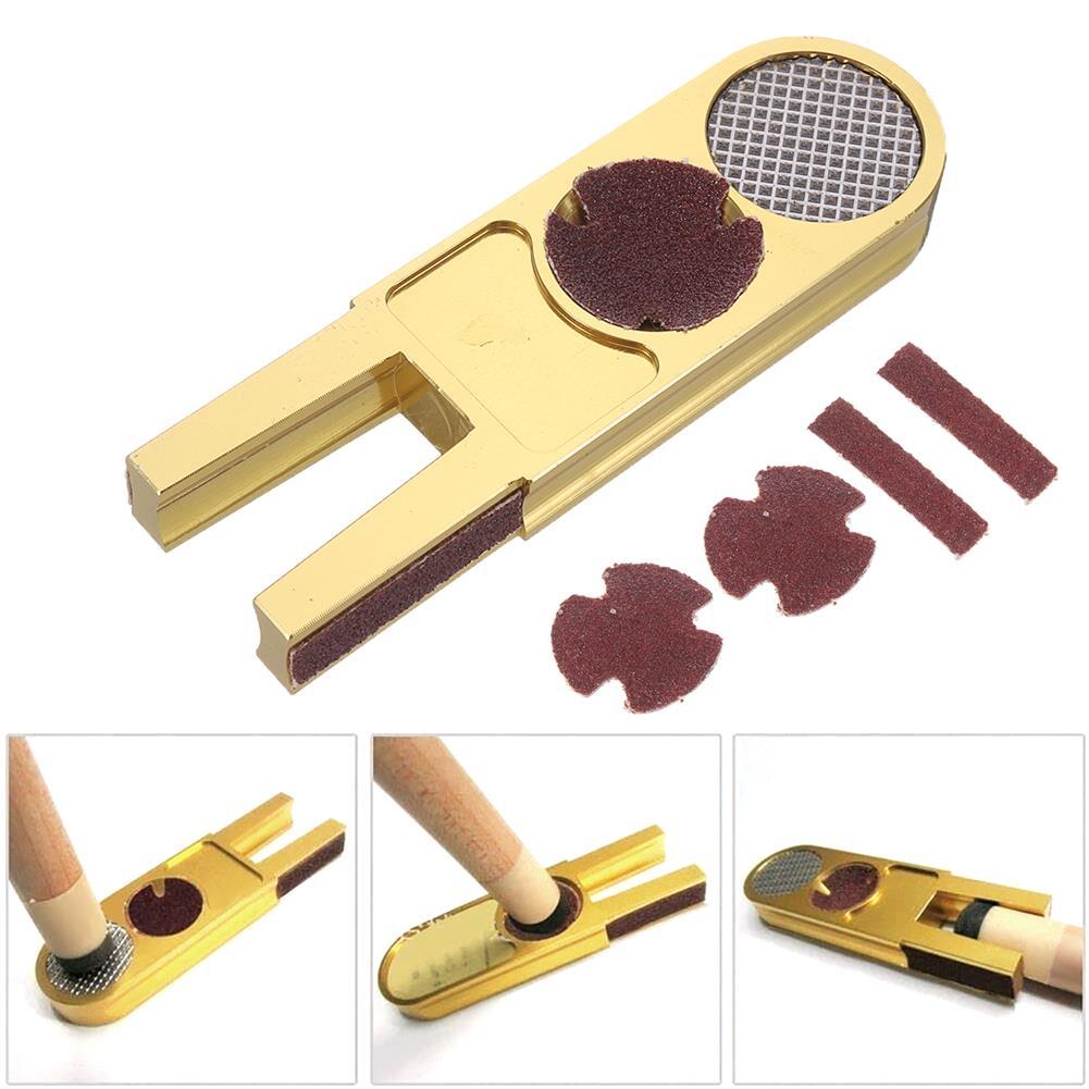 tools-bags-storage U Billiards Pool Snooker Cue Tip Scuffer Trimmers Burnisher Shaper Repair Tools HOB1682734 2