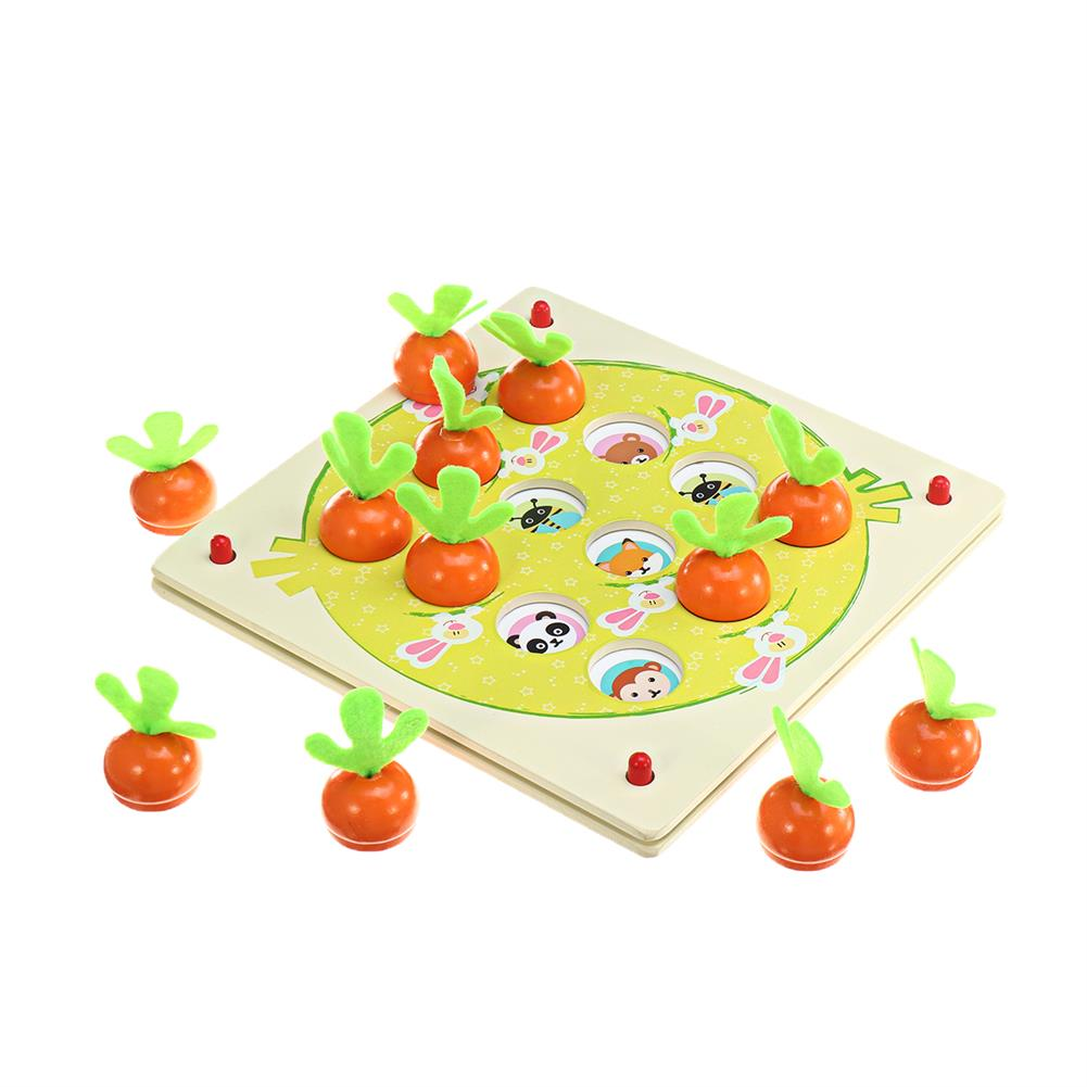 puzzle-game-toys Wooden Pull Out Carrot Memory Chess Puzzle intelligence Parent-child interaction Board Game Toys HOB1682764