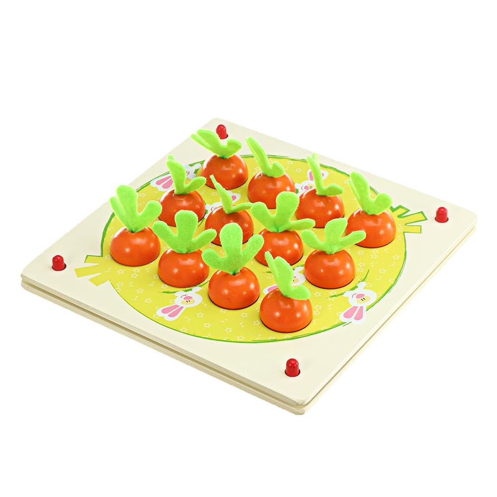 puzzle-game-toys Wooden Pull Out Carrot Memory Chess Puzzle intelligence Parent-child interaction Board Game Toys HOB1682764 1