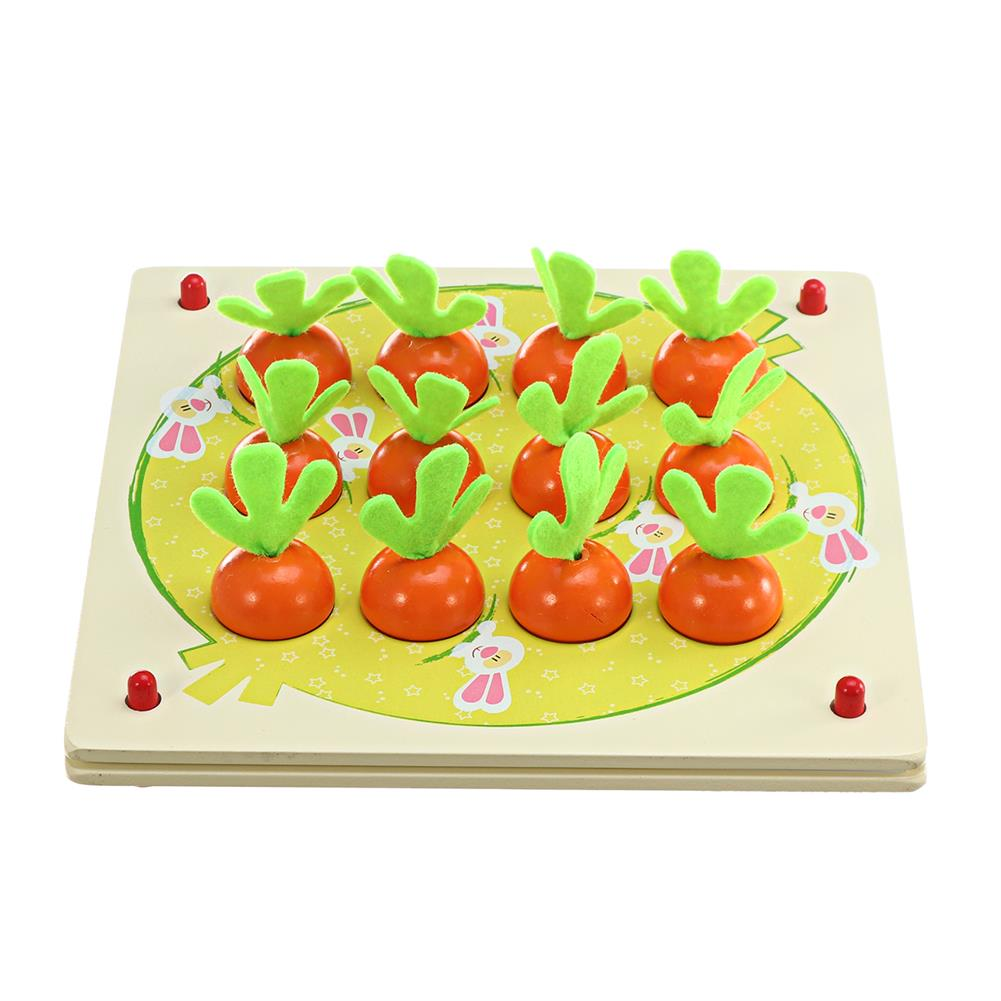 puzzle-game-toys Wooden Pull Out Carrot Memory Chess Puzzle intelligence Parent-child interaction Board Game Toys HOB1682764 3