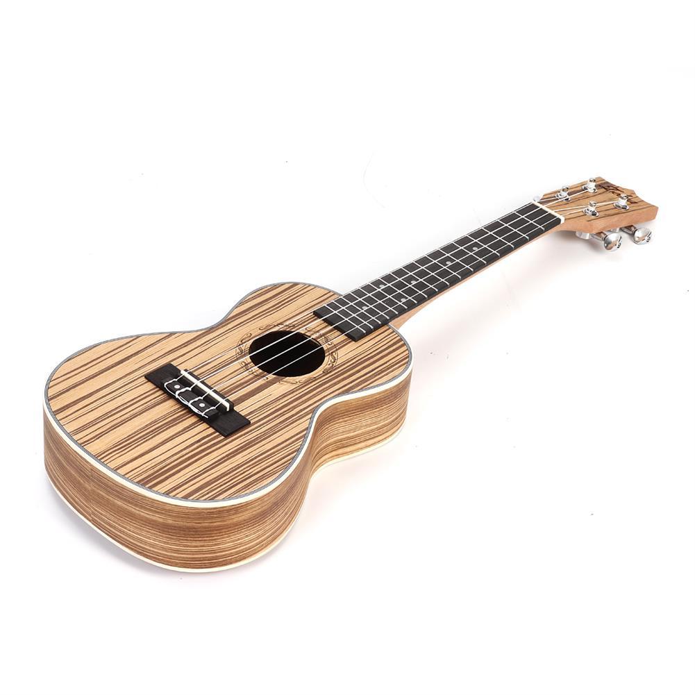 ukulele Zebra 21 23 inch Full 4 Strings Sapele Ukulele w/Gig Bag,Tuner,Capo,Nylon Strings,Picks,Strap for Beginners,Adults HOB1682985 2