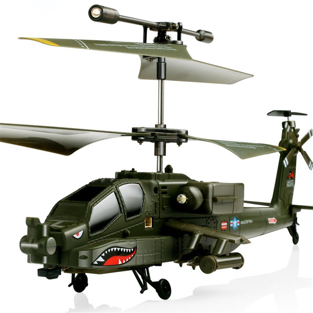 rc-helicopter SYMA S109G 3.5CH Beast RC Helicopter RTF AH-64 Military Model Kids Toy HOB1683021