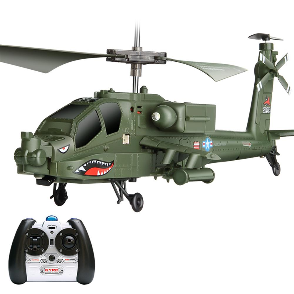 rc-helicopter SYMA S109G 3.5CH Beast RC Helicopter RTF AH-64 Military Model Kids Toy HOB1683021 1