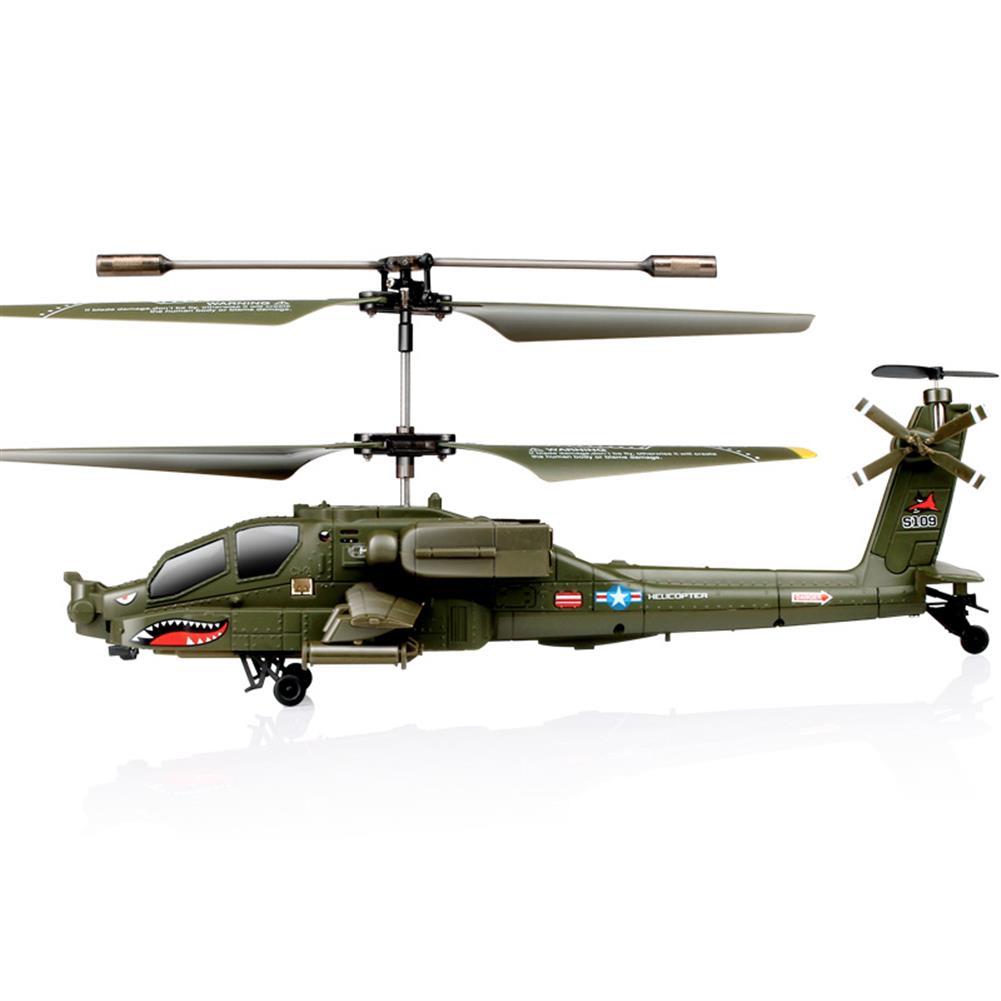 rc-helicopter SYMA S109G 3.5CH Beast RC Helicopter RTF AH-64 Military Model Kids Toy HOB1683021 3