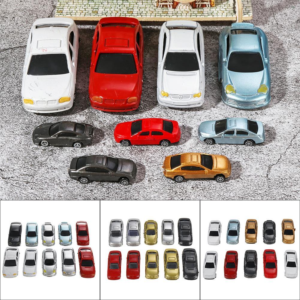 model-building 10Pcs Mixed Color HO Scale Model Car Building Train Scenery HOB1683223