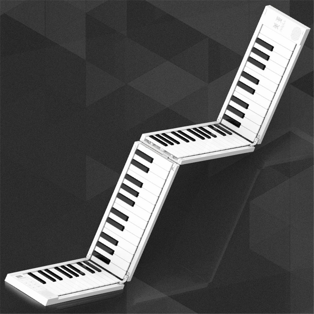 electronic-keyboards 88 Keys Foldable Electronic Piano Portable Keyboard 128 Tones Dual Speakers Headphone Output with Sustain Pedal HOB1683235
