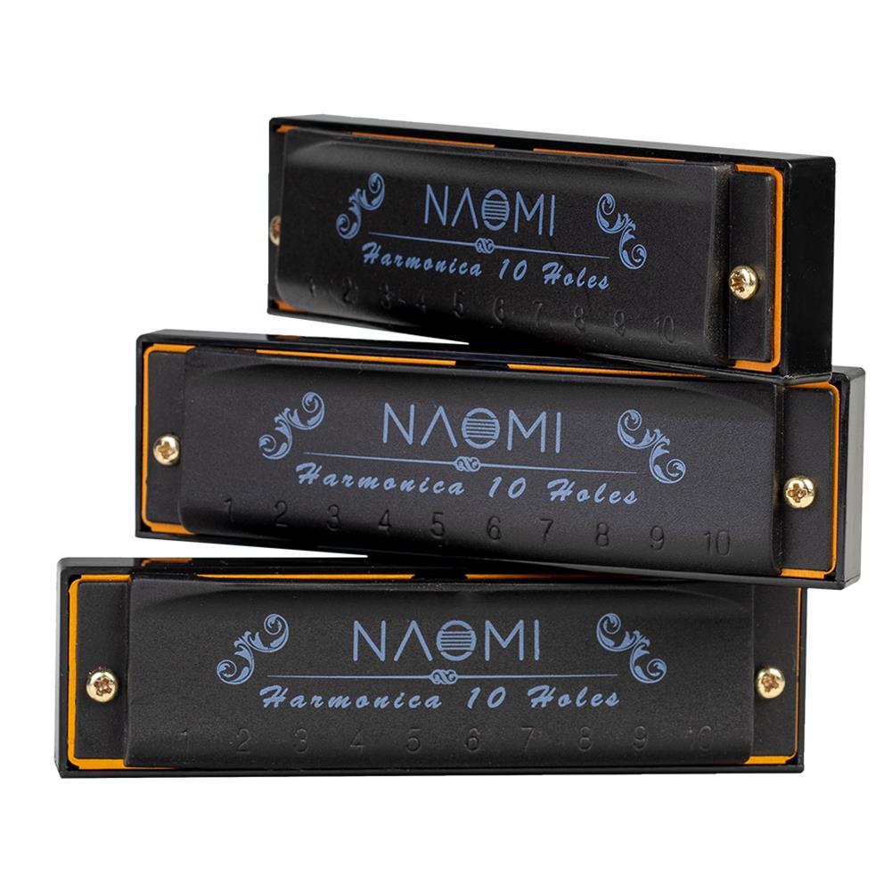 harmonica NAOMI 3PCS Hoodoo Blues Harmonica C D G Tone Harmonica Set with Case HOB1683258 1