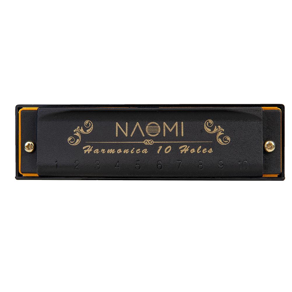 harmonica NAOMI 7PCS/Set 10 Holes C Key Piedmont Blues Harmonica with Case HOB1683297 2