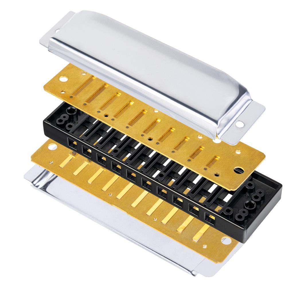 harmonica NAOMI 7PCS Blues Harmonica 10 Holes C Key Blues Band Harmonica Set with Case HOB1683316 3